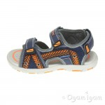 Geox Pianeta Boys Navy Orange Sandal