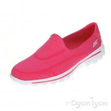Skechers Go Walk 2 Super Sock Womens Pink Shoe