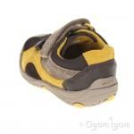 Clarks Ru Rocks Fst Boys Brown Combi Shoe
