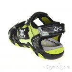 Geox Strike Boys Grey Lime Pirate Sandal