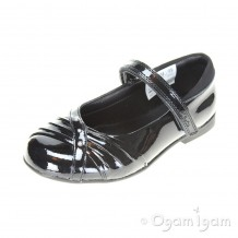 Clarks Dolly Shy Inf Girls Black Patent School Shoe