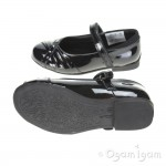 Clarks Dolly Shy Inf Girls Black Patent School Shoe