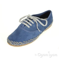 Clarks DanceStrut Jnr Girls Denim Blue Shoe