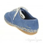Clarks DanceStrut Jnr Girls Denim Blue Shoe