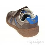 Clarks Stomp Claw Inf Boys Brown Combi Shoe