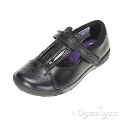 Clarks NibblesJig Inf Girls Black School Shoe