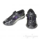 Clarks NibblesJig Inf Girls Black School Shoe