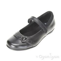 Clarks Tasha Bay Inf Girls Black School Shoe