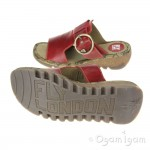 Fly London Tute Womens Red Sandal