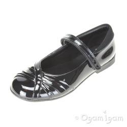 Clarks Dolly Shy Jnr Girls Black Patent School Shoe
