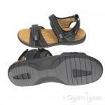 Clarks UnBryman Sun Mens Black Sandal