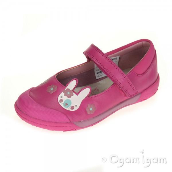 Clarks NibblesNiceInf Girls Lipstick Pink Binkies Shoe