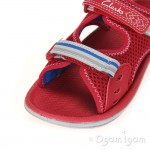 Clarks PiranhaBoy Boys Red Water Firendly Sandal