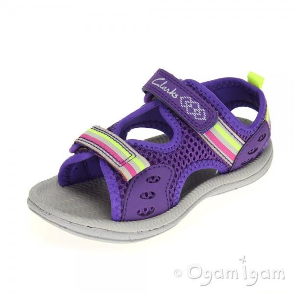 Clarks Star Games Fst Girls Purple Sandal