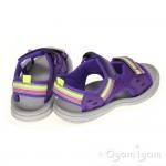 Clarks Star Games Girls Purple Sandal