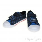 Clarks Tricer Roar Boys Navy Canvas Shoe