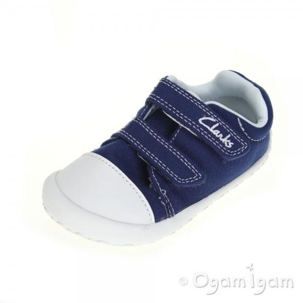 Clarks Little Chap Infant Boys Navy Canvas Shoe
