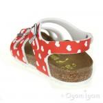 Birkenstock Rio Kinder Girls Heart White Red Sandal