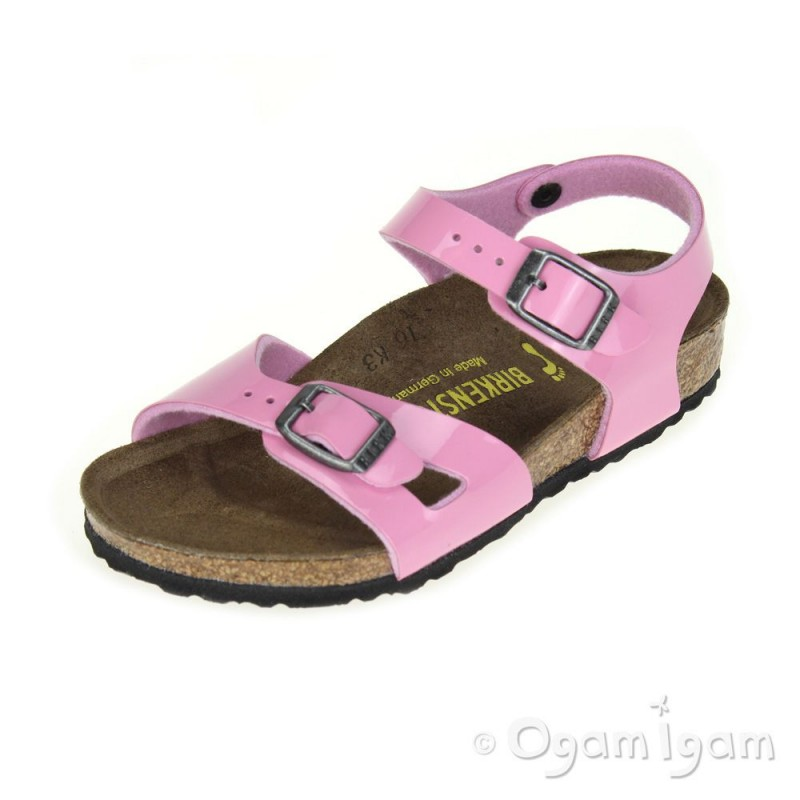 birkenstock rio kinder girls cashmere pink sandal ogam igam. Black Bedroom Furniture Sets. Home Design Ideas
