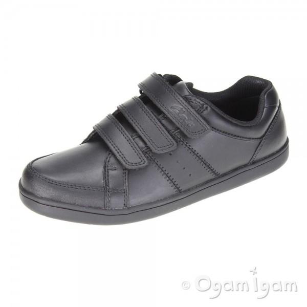 Clarks Holbay Go Jnr Boys Black School Shoe