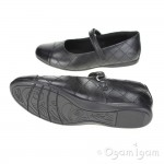 Clarks Dance Roxy Girls Black School Shoe