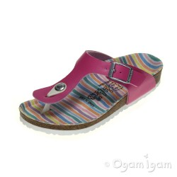 Birkenstock Gizeh Pink Stripe Girls Sandal