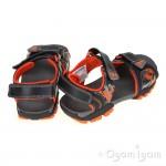 Clarks Zalmo Go Jnr Boys Black Combi Sandal