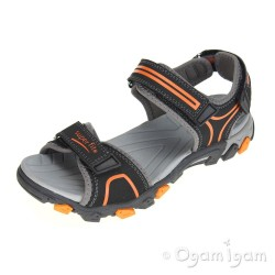 Superfit Boys Black Orange Sandal