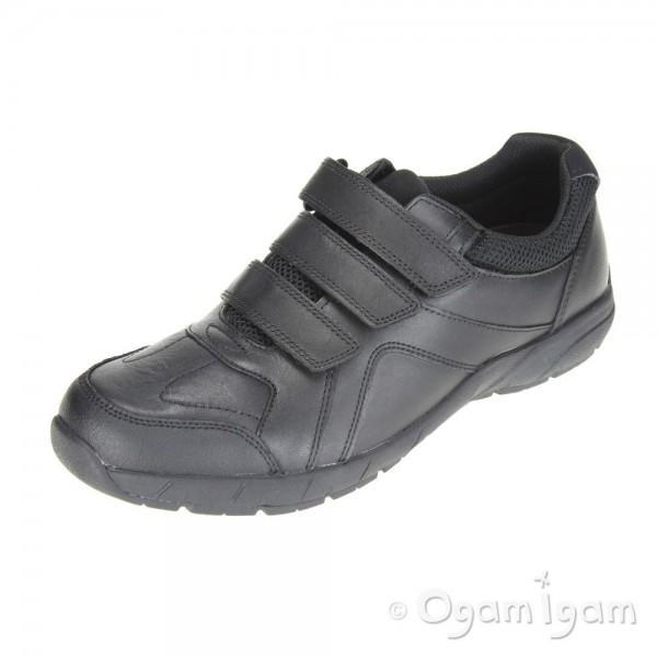 Clarks Air Suffolk Boys Black School Shoe
