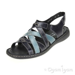 Josef Seibel Lisa 06 Womens Blue Black Combi Sandal
