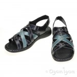Josef Seibel Lisa 06 Womens Blue Black Combi Sandal