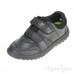 Clarks JackSpring Inf Boys Black School Shoe