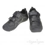 Geox Artach Boys Black School Shoe