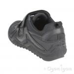 Geox Attack Boys Black School Shoe
