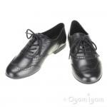 Geox Plie Lace Up Girls Black School Shoe
