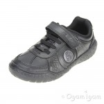 Clarks Stomp Rex Jnr Boys Black School Shoe