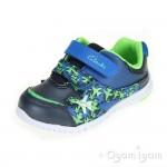 Clarks Azon Zoom Fst Boys Navy Combi Shoe