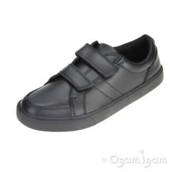 Clarks Kensal Race Boys Black Shoe