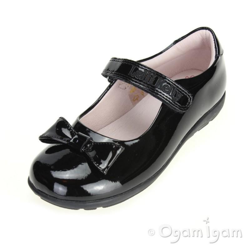 e8f7fb6db11e1 Lelli Kelly Perrie Girls Black Patent School Shoe | Ogam Igam