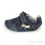 Clarks Tiny Liam Infant Boys Navy Shoe