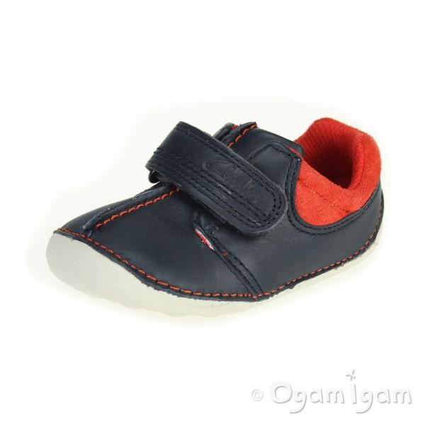 Clarks Tiny Joe Infant Boys Navy Shoe