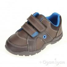 Clarks Flash Pop Fst Boys Brown Combi Shoe