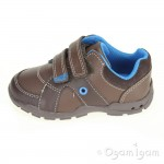 Clarks Flash Pop Fst Boys Brown Combi Shoe