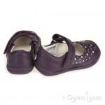 Clarks Softly Ida Fst Girls Purple Shoe