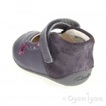 Clarks Little Zoe Infant Girls Anthracite Shoe
