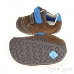 Clarks Tiny Flash Infant Boys Brown Shoe