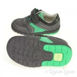 Clarks Softly Lee Fst Boys Grey Green Combi Shoe