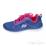 Skechers Flex Appeal Obvious Choice Womens Periwinkle Pink Trainer