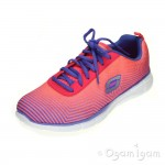 Skechers Equalizer Expect Miracles Womens Pink Purple Trainer