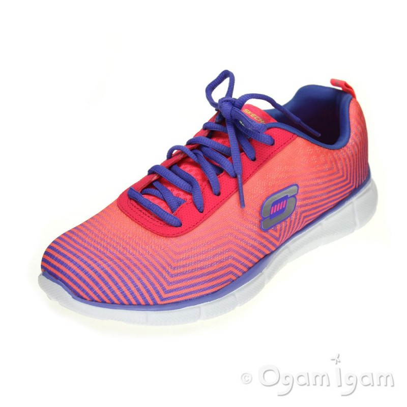 c7e7e2c8fbe6 Skechers Equalizer Expect Miracles Womens Pink Purple Trainer